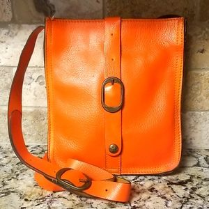 🍊LIKE NEW Patricia Nash Orange Venezia Crossbody